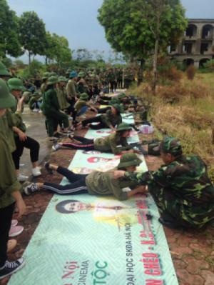 Học quân sự - một sự trải nghiệm tuyệt vời