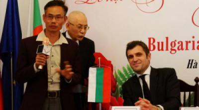 Giám đốc Đào Mạnh Hùng phát biểu ngắn tại buổi họp báo Lễ hội hoa hồng