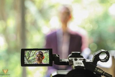 Kênh VTV3 Đài TH Việt Nam ghi hình về hoa Cúc và các giá trị tại CV thực vật cảnh VN