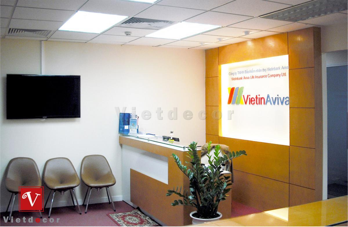 Thiết kế và thi công nội thất văn phòng Aviva