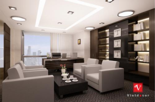 Thiết kế nội thất văn phòng chủ tịch và phó chủ tịch tòa nhà Lotte
