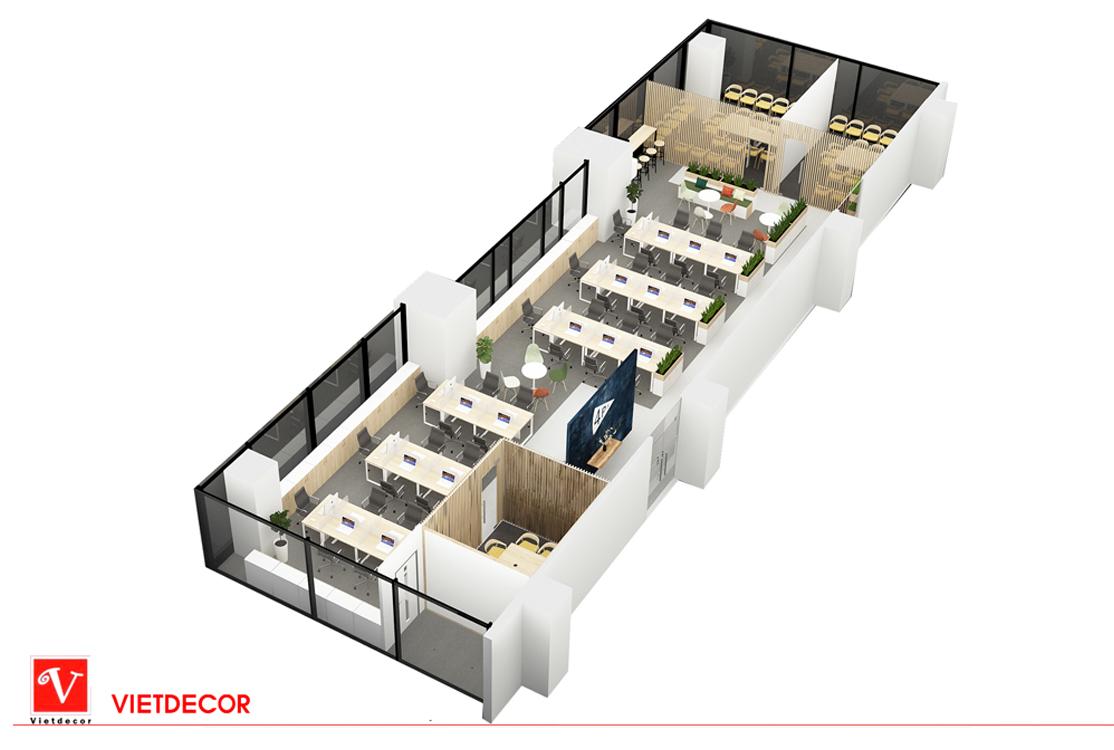 Thiết kế văn phòng công ty cổ phần Pizza 4P's