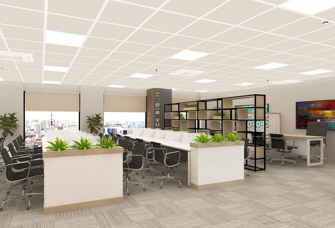 Thiết kế văn phòng công ty cổ phần Phát Hà Thành