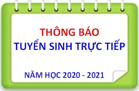TRƯỜNG MẦM NON TUỔI HOA TUYỂN SINH TRỰC TIẾP NĂM HỌC 2020 - 2021