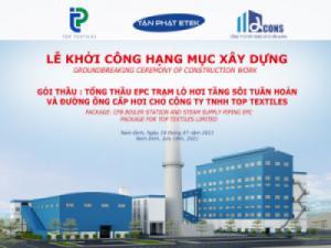 Lễ khởi công Dự án Nhà máy TOP TEXTILES tại KCN Dệt may Rạng Đông-Nam Định