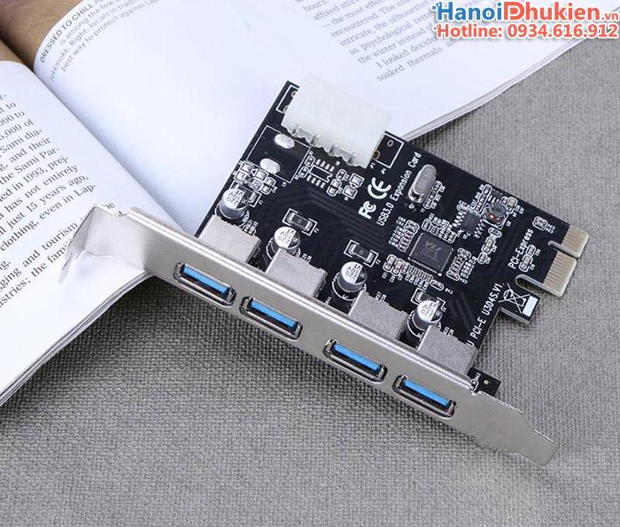 Card PCI Express 1X mở rộng 4 cổng USB 3.0 cho máy tính bàn VL805 chip