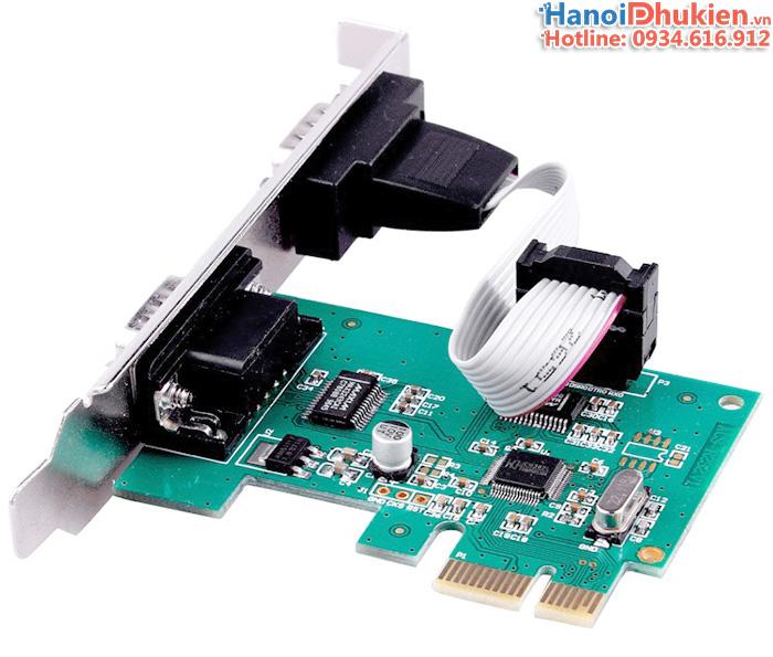 Card chuyển đổi PCI-E sang 2 RS232 Chipset WCH382