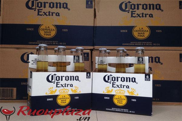 Lock 6 chai Bia Corona Extra 355ml Mexico