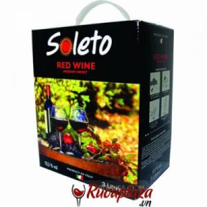 Rượu vang bịch ngọt ý Soleto