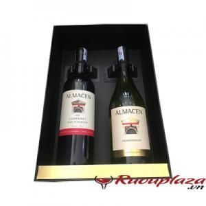 Hộp quà rượu vang 2 chai Almacen chile