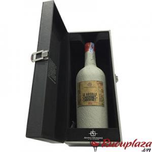 Hộp quà rượu vang Le argille Cabernet xi măng