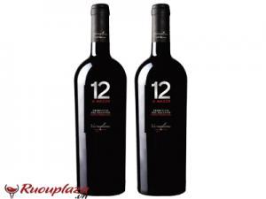 Rượu vang Ý 12 E Mezzo Primitivo De Salento