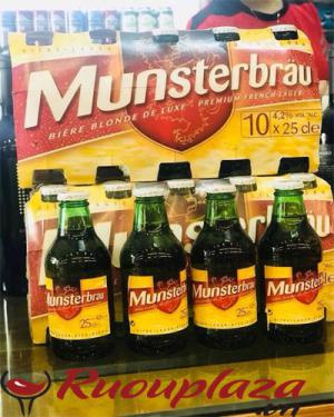 Bia Pháp Munsterbrau Nồng độ: 4,2% Dung tích: 250ml