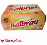 Thùng bia chai Pháp Kalbrau 5% 24 lon x 250ml
