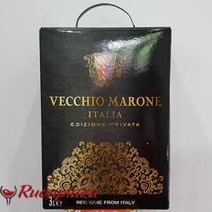 Rượu vang bịch ý Vecchio Marone