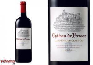 Rượu vang Pháp Chateau De Pressac Saint - Emilion Grand Cru Classe 750ml