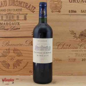 Rượu vang Pháp Chateau D'arsac Margaux Aoc 750ml