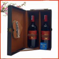 Hộp da đôi hai chai vang Pháp argali