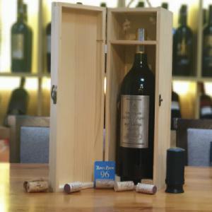 Hộp gỗ 1 chai vang Pháp Chateau Cathalogne 1500ml