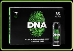 Bia Úc DNA 8% lon 500ml