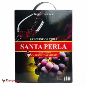 Rượu vang bịch Chile Santa Perla