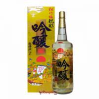 Rượu Sake Vảy Vàng Takarashozu - Mặt Trời Đỏ 1800ml (chai trắng)