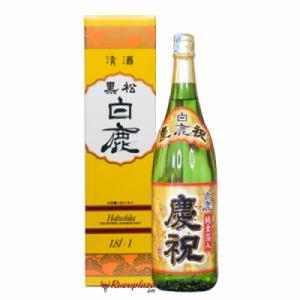 Rượu sake vẩy vàng Hakushika 1800ml