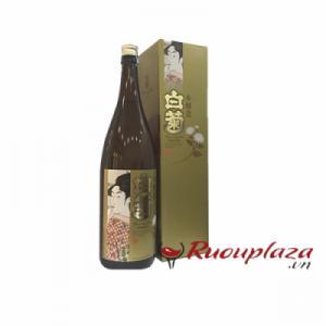 Hộp rượu Sake vẩy vàng Shiragiku honjozo 1800ml