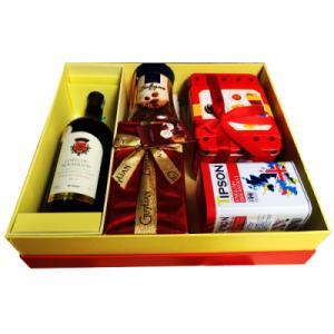 Hộp quà tết rượu vang Pháp Cotes Du -QT1