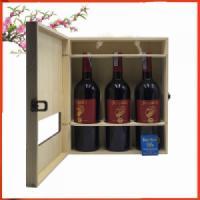 Hộp gỗ 3 chai rượu vang Ý Argalis Cuvee Rouge