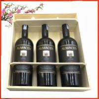 Hộp gỗ 3 chai vang Pháp Almacen