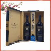 Hộp da hai chai vang Chile  Almacen