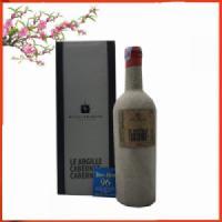 Hộp quà rượu vang Ý Le Argille Cabernet Di Cabernet chai xi măng