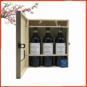 Hộp gỗ 3 chai vang Pháp Domaine de Sainte Cécile Cabernet Sauvignon | Quatetplaza.com