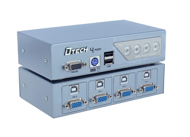 bộ chia vga kvm switch 4 vào 1 ra DTECH DT-8041