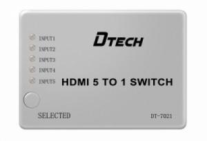 Bộ chia HDMI 5 vào 1 ra DTECH (DT-7021)