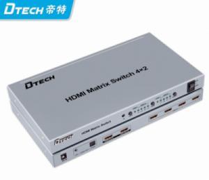 Bộ chia HDMI Matrix 4x2 DTECH (DT-7029)