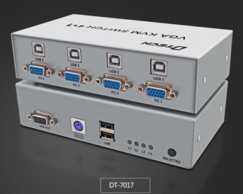 Bộ chia VGA KVM Switch 4 Port DTECH DT-7017