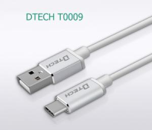 Cáp chuyển USB sang Type-C dài 0.1 mét DTECH T0009 cao cấp