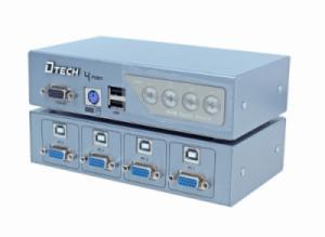 Bộ chia VGA KVM 4 vào 1 ra DTECH (DT-8041)