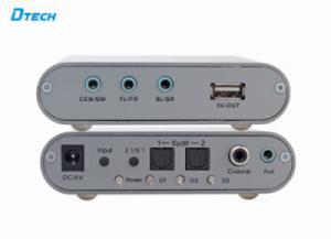 Bộ chuyển đổi âm thanh Optical Coaxial sang Audio 5.1 kênh DTECH (DT-6525)