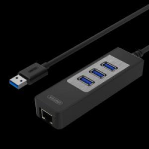 HUB 3 cổng USB 3.0 + LAN (Gbps) UNITEK Y-3045