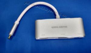 Cáp chuyển USB Type-C sang HDMI, VGA+Audio, USB 2.0 King-master KY-V010B