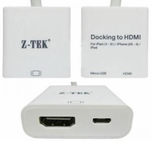 Cáp chuyển từ IPAD sang HDMI và MICRO USB Z-TEK ZY-032