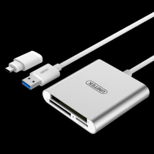 ĐẦU ĐỌC THẺ NHIỀU TRONG MỘT USB 3.0 + TYPE C UNITEK Y-9313D