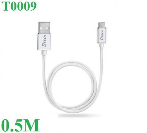 Cáp USB type-A(M) sang type-C(M) Dtech T0009 0,5m