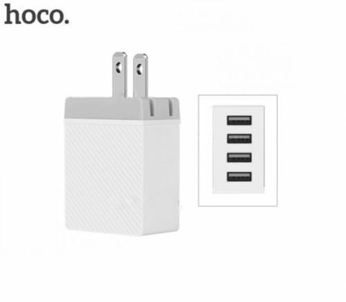 Cốc sạc 4 cổng USB HOCO C23B chính hãng