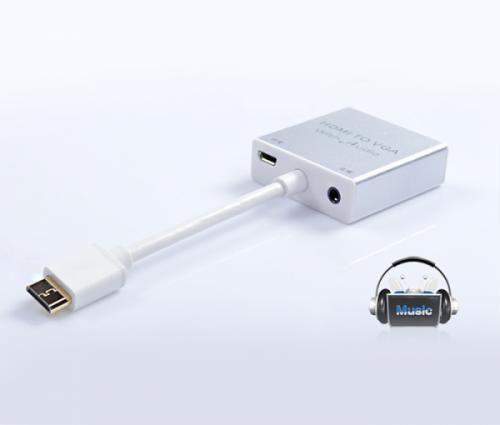 Cáp chuyển MINI HDMI sang VGA kèm AUDIO Z-TEK ZY-097