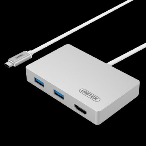 Cáp USB type-c sang HDMI và 2 Port USB 3.0 kèm cấp nguồn UNITEK Y-3707