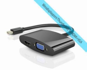 Cáp chuyển Minidisplay port/Thunderbolt ra VGA và HDMI UNITEK Y-6328BK